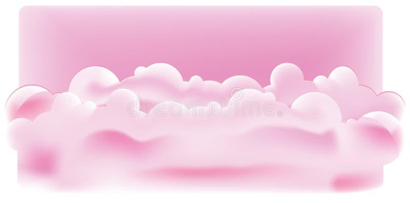 chmurnieje purpury royalty ilustracja