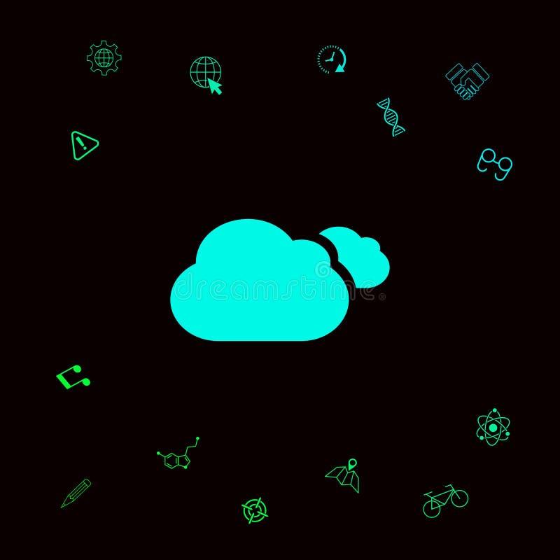 Chmurnieje symbol ikonę ilustracja wektor
