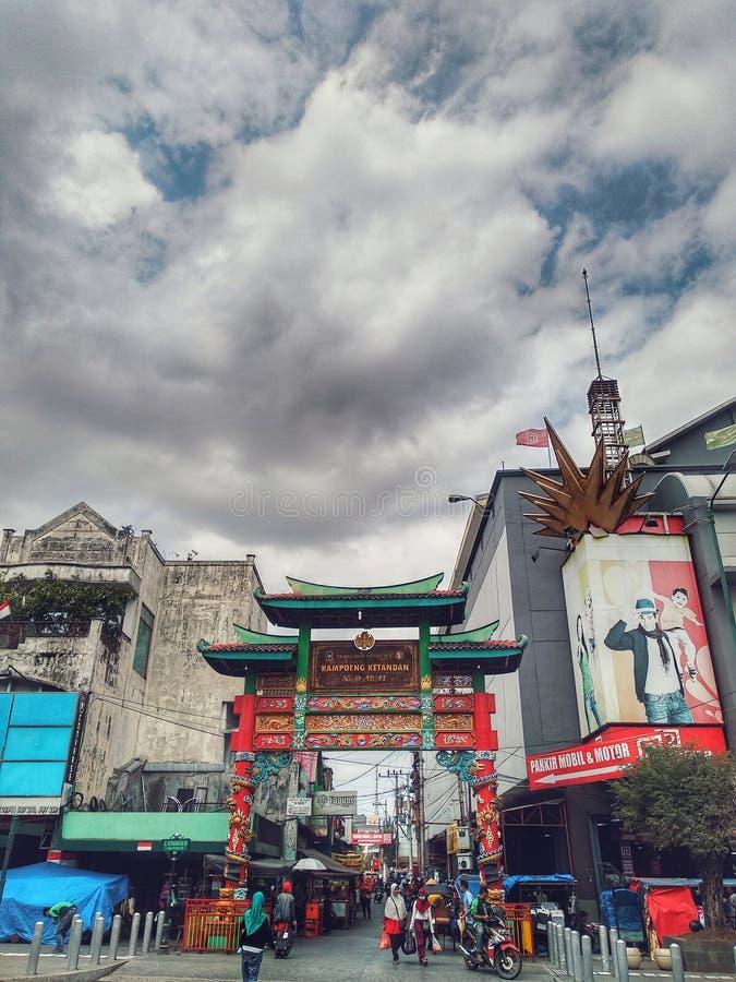Chmurny Indonezja chińczyk fotografia stock
