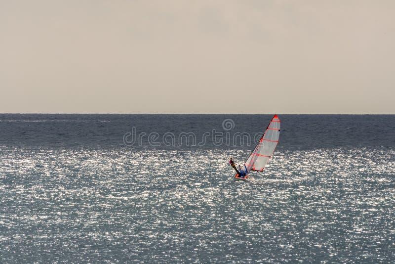 Chmurny morze śródziemnomorskie dla żeglować fotografia royalty free