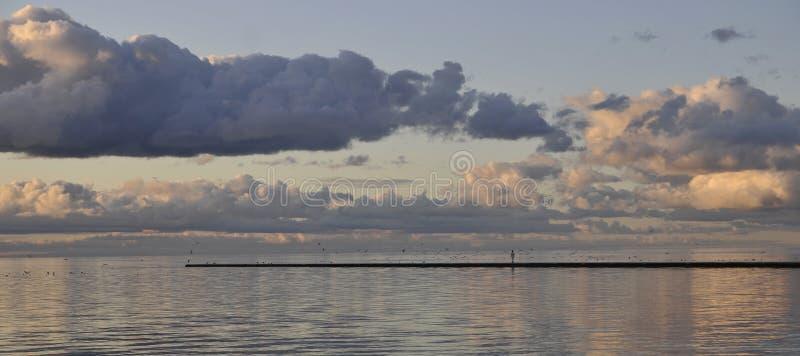 chmurny morze zdjęcie stock