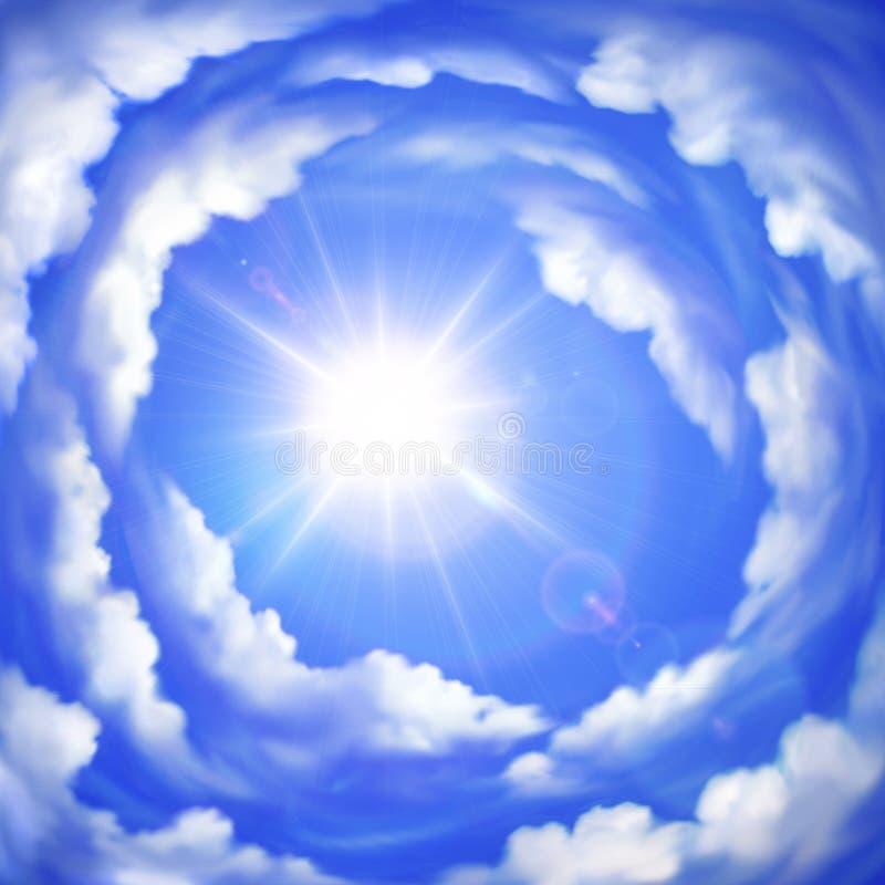 Chmurny niebo ilustracja wektor