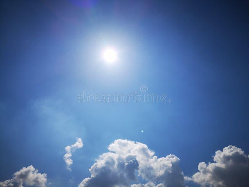 Chmurny słońce zdjęcie royalty free