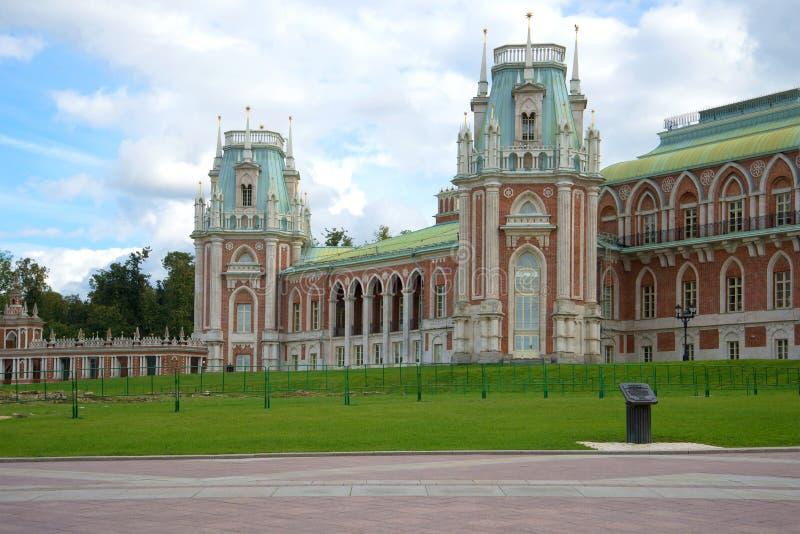 Chmurny Września dzień przy Tsaritsyno pałac moscow Rosji obraz royalty free