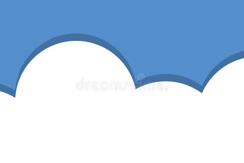 Chmurny z niebieskie niebo krajobrazu fotografii t?em Bezszwowy wzór z biel chmurą Futurystyczny projekt Przeznacza? do rozbi?rki royalty ilustracja