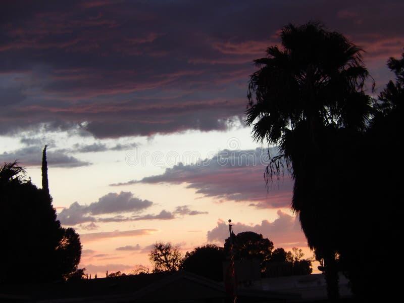 Chmurny zmierzch w Tucson fotografia royalty free