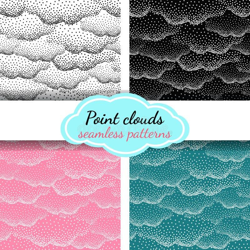 Chmury Bitmap wzór royalty ilustracja