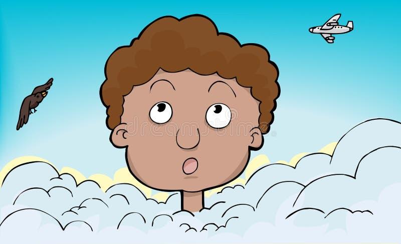 chmury głowa ilustracja wektor