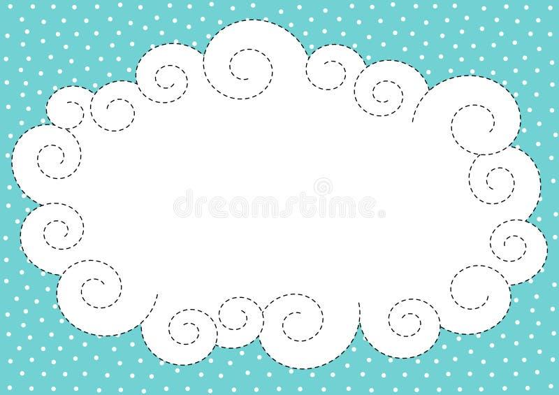 Chmury i śnieg granicy rama ilustracja wektor