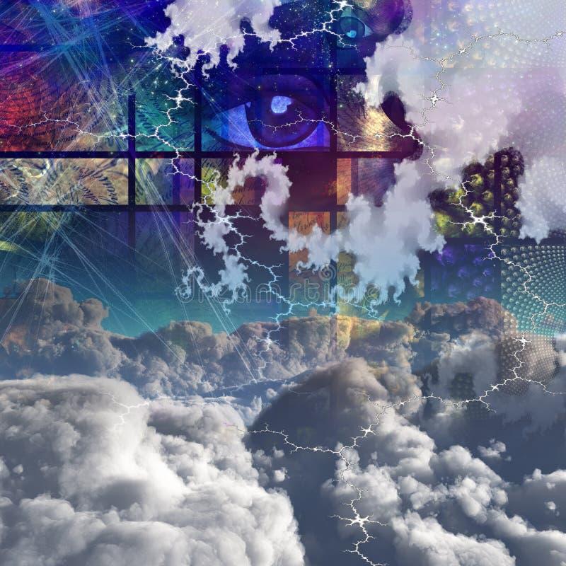 Chmury i abstrakt royalty ilustracja