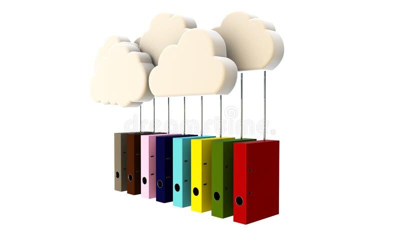 Chmury i falcówki ilustracja wektor