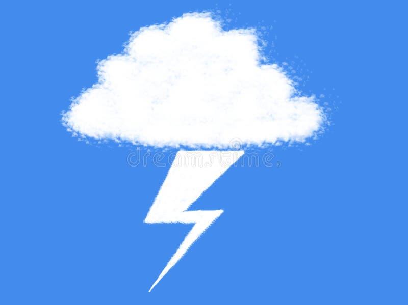 Chmury i grzmotu rygla chmury kształt ilustracja wektor