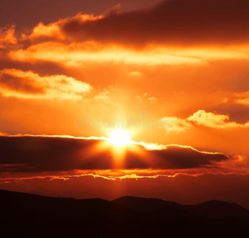 Chmury i słońce zdjęcia royalty free