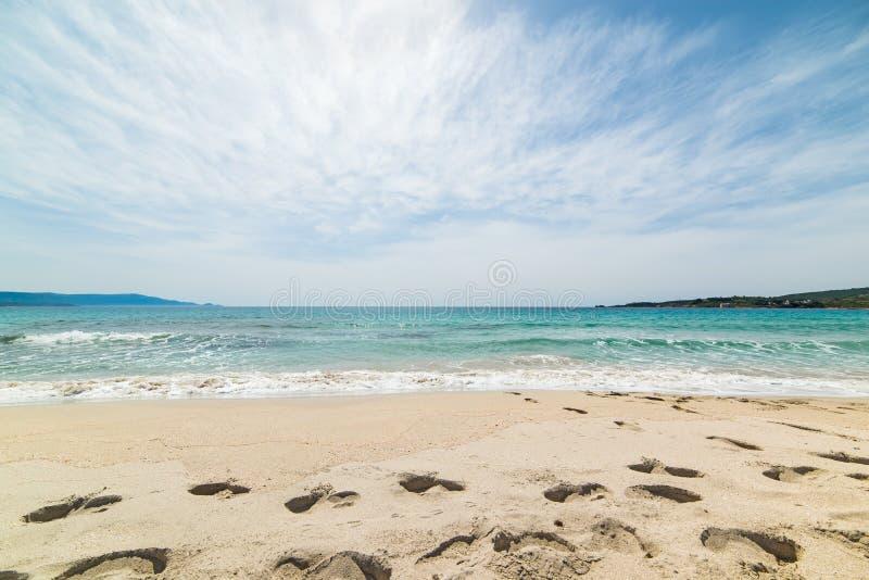 Chmury, morze i piasek, obraz stock