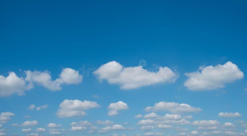 Chmury na niebieskie niebo panoramie z kopii przestrzenią - cloudscape, chmurny obraz stock