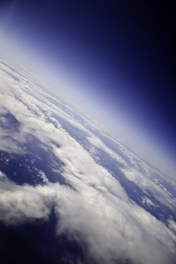 Chmury na ziemi od nieba obraz royalty free