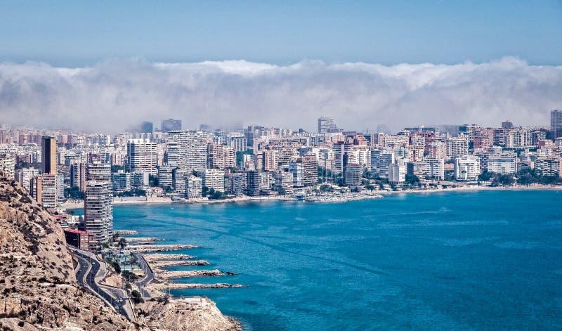 Chmury Nad Alicante Hiszpania obrazy stock