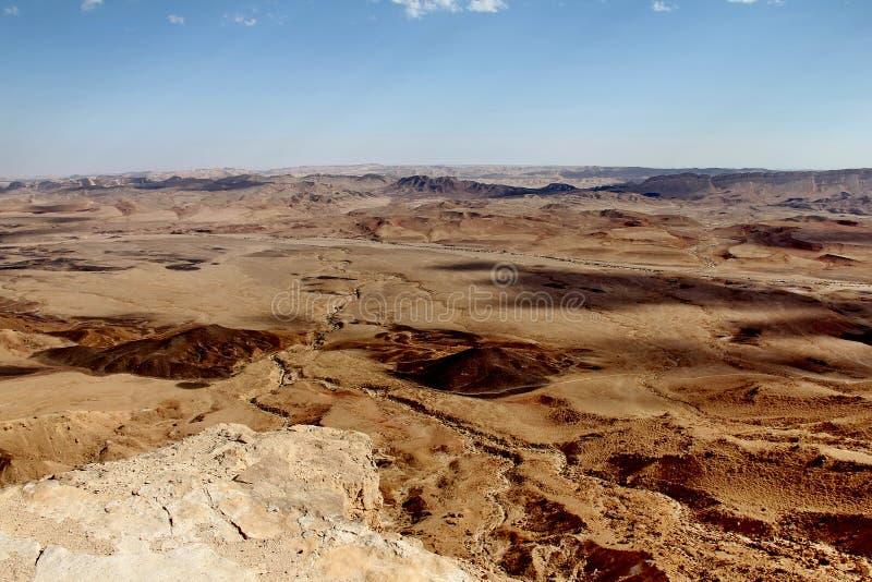 Chmury nad Makhtesh Ramon kraterem fotografia royalty free