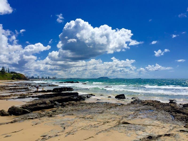 chmury nad morzem obraz stock