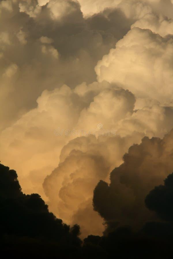 chmury nad Saskatchewan burzą obraz royalty free