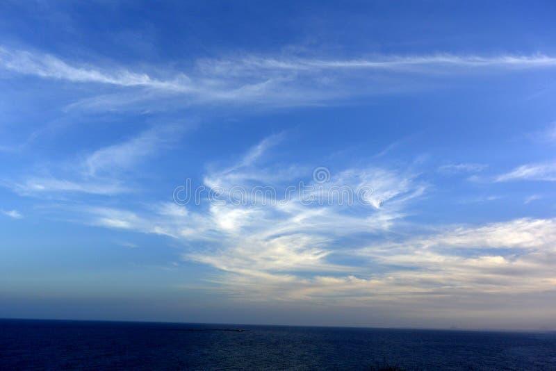 chmury piękny niebo hiszpański wybrzeże obraz royalty free