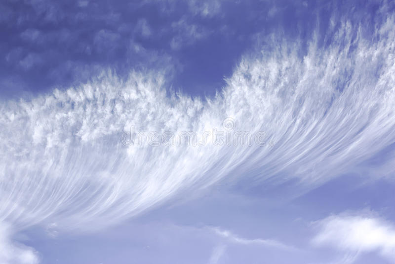Chmury pierzastej chmura zdjęcie royalty free