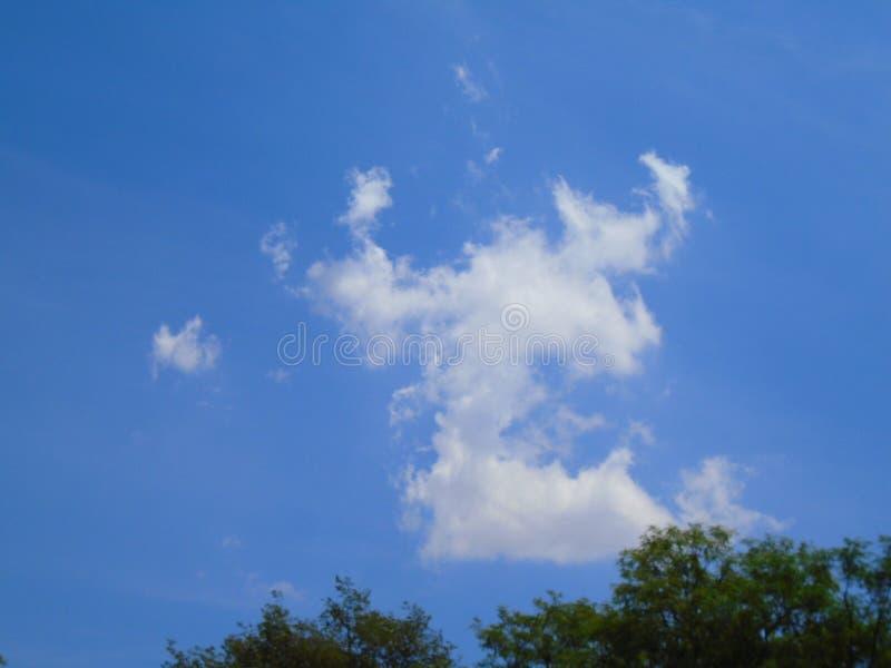 Chmury spojrzenia jak krab zdjęcie stock