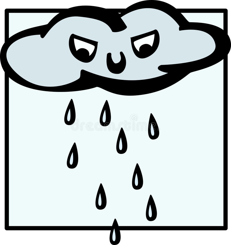 chmury szaleńcu padać. ilustracji