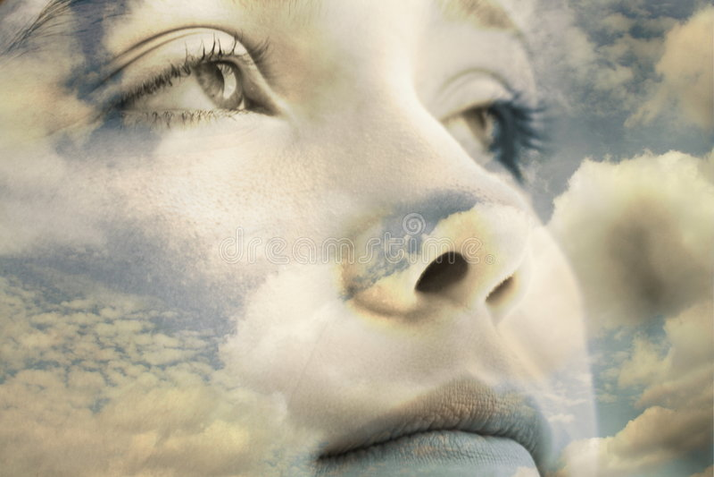 chmury twarz zdjęcie royalty free