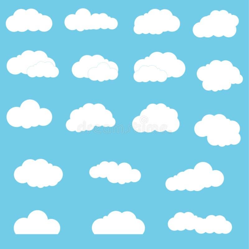 chmury ustawiać zdjęcia stock