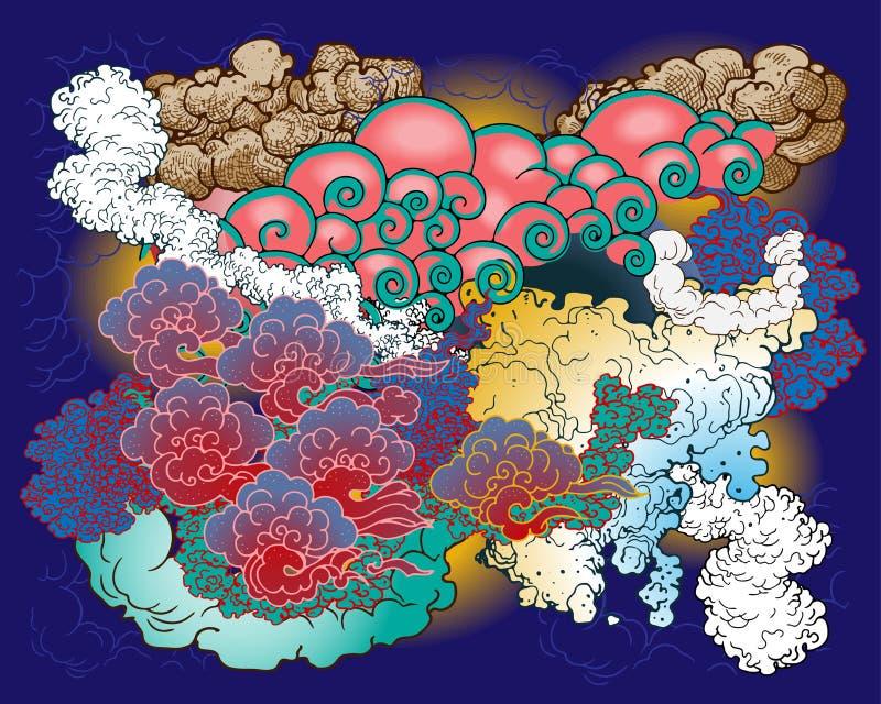 chmury ustawiający wektor ilustracja wektor