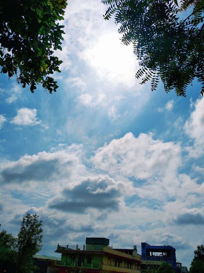 Chmury w ind obrazy royalty free