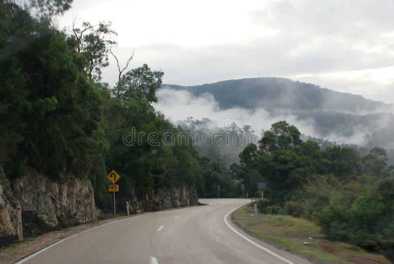 Chmury w wzgórzach fotografia royalty free