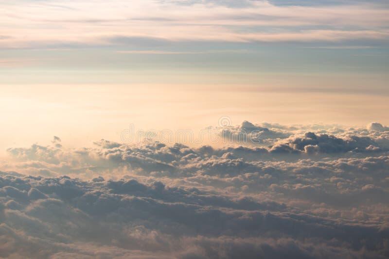 Chmury widzieć z wierzchu Mt Fuji w Japan obraz stock