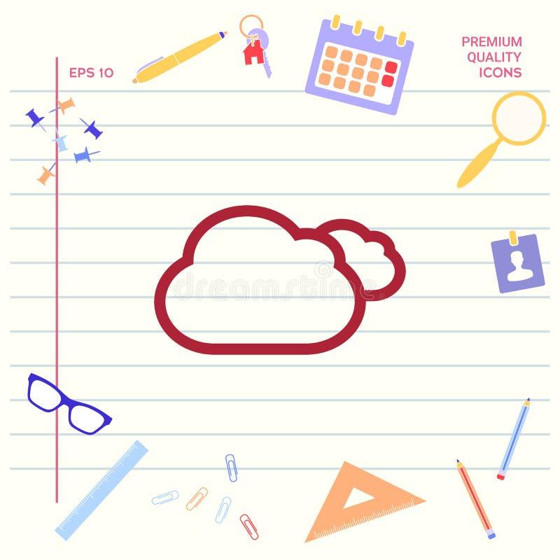 Chmury wykładają ikonę royalty ilustracja