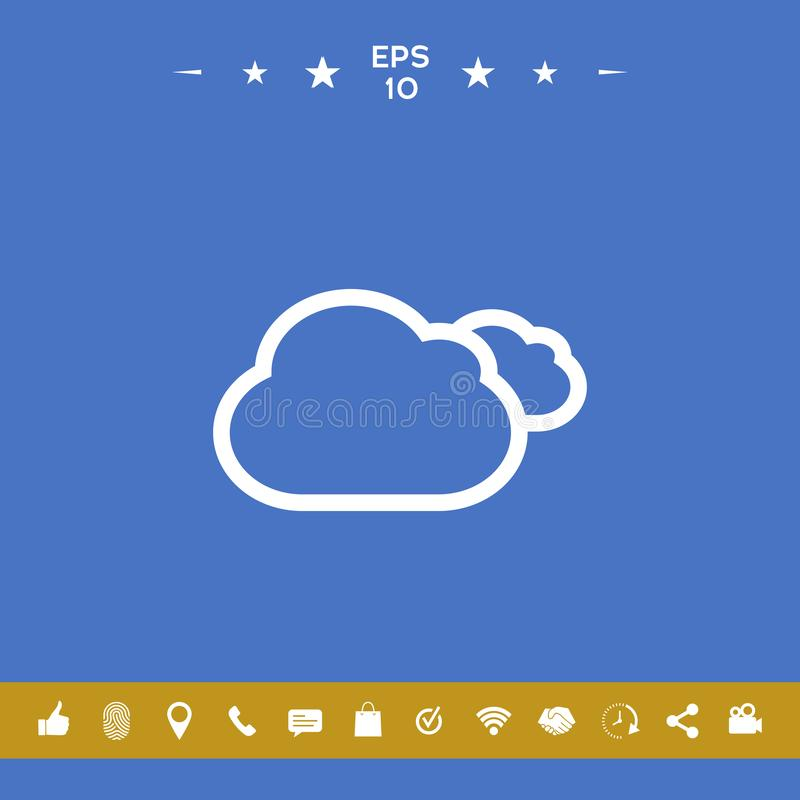 Chmury wykładają ikonę ilustracji