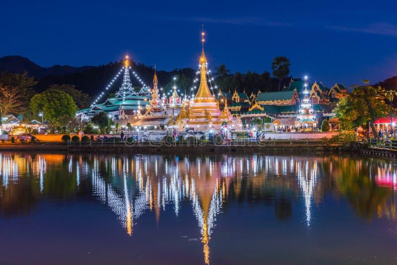 Chnong Kham, beau temple bouddhiste, style de myanmar photo libre de droits