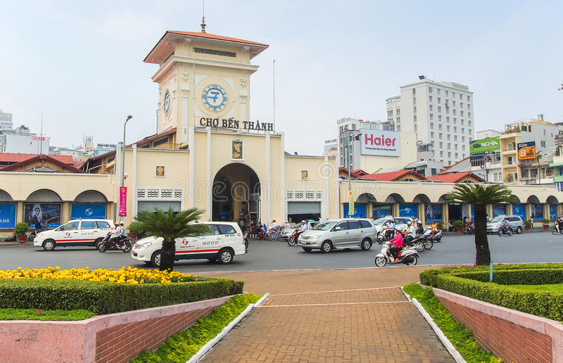 Cho Ben Thanh o Ben Thanh Market in Ho Chi Minh City fotografia stock