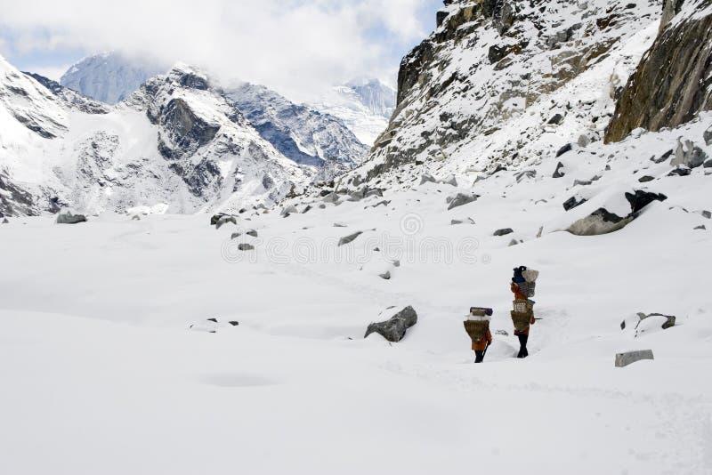 Cho La Pass - Nepal stock image