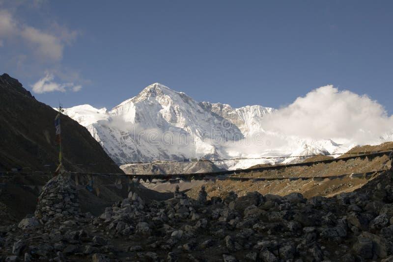 cho, Nepal oyu góry zdjęcie royalty free