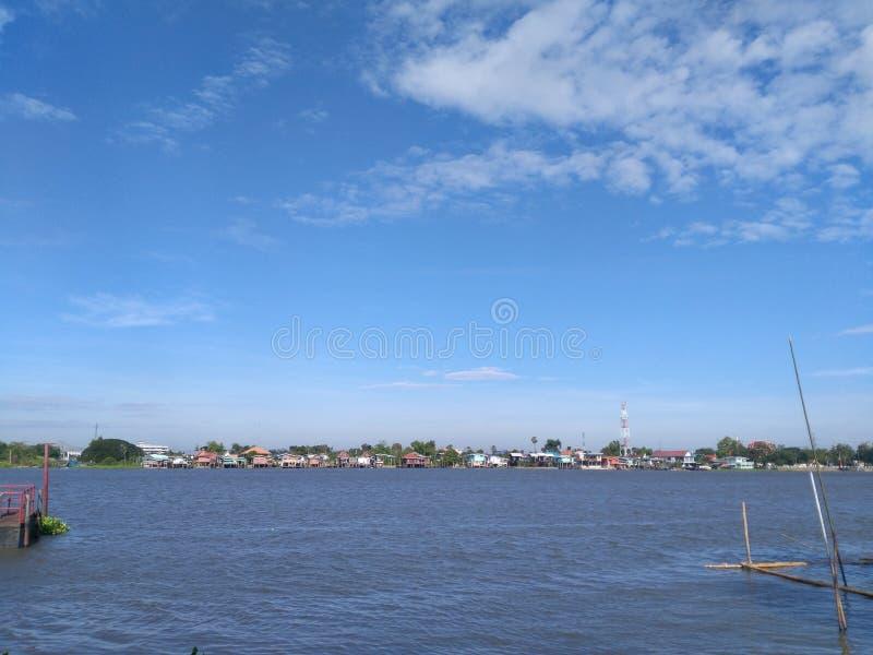 Choapraya flod royaltyfria foton