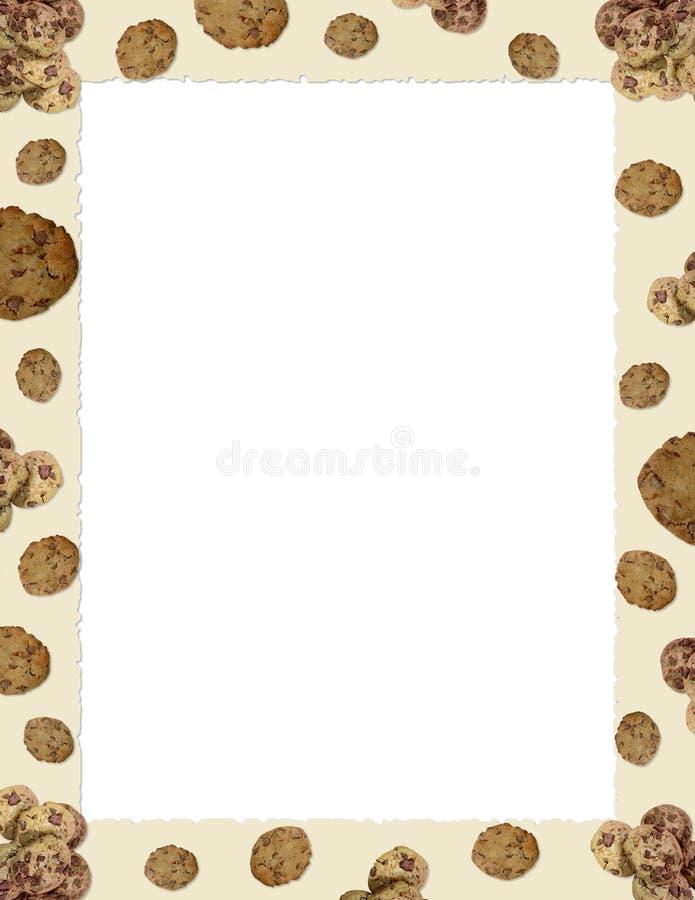 Choc chip cookie border stock illustration