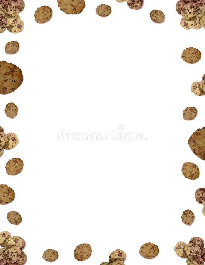 choc chip cookie border stock photo image of stationery 1209144