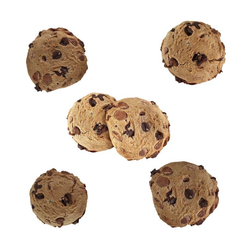 Choc chip cookies stock photos