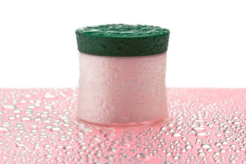 Choc crème cosmétique humide photo stock