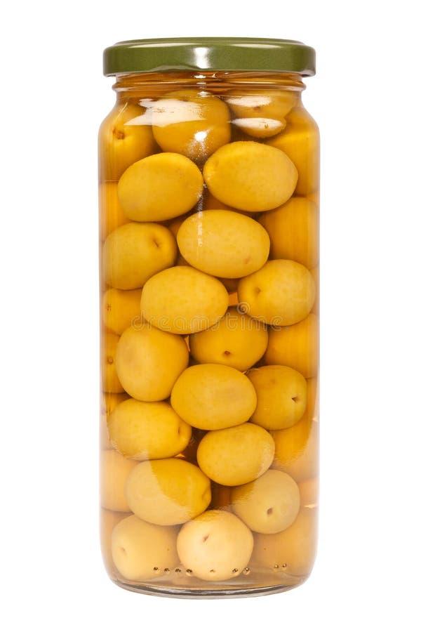 Choc d'olives vertes images libres de droits