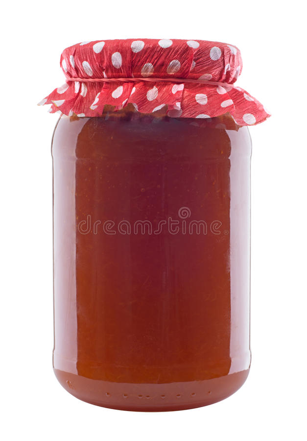 Choc de confiture d'abricot photo stock