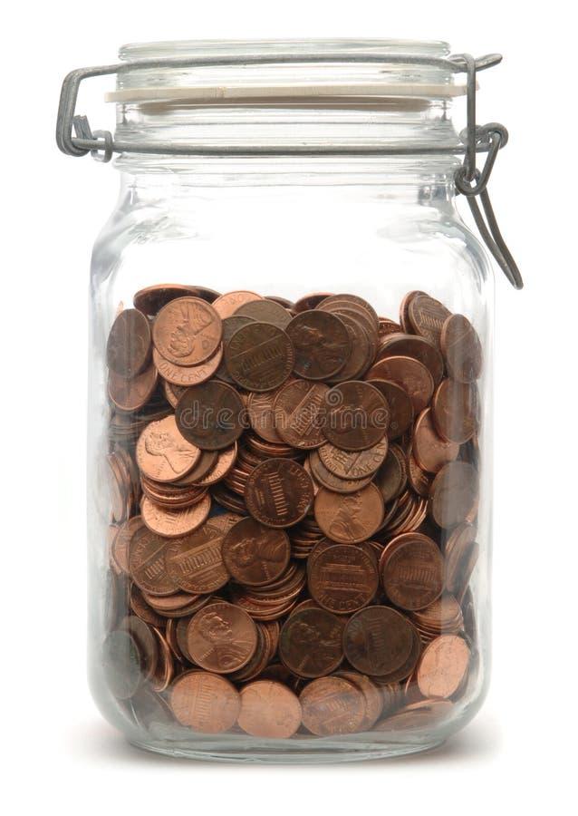 Choc de penny photographie stock libre de droits