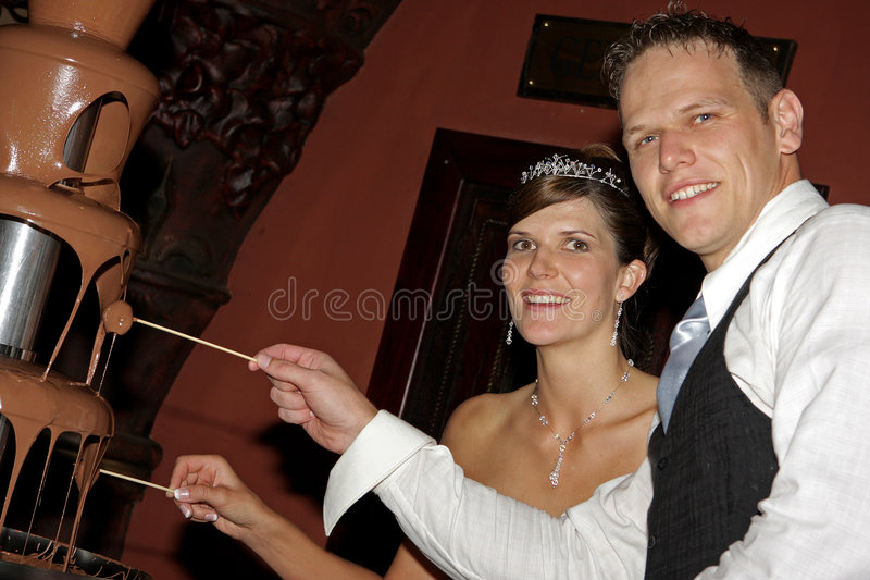 Download Choc Fountain stock photo. Image of bride, groom, taste - 4965978