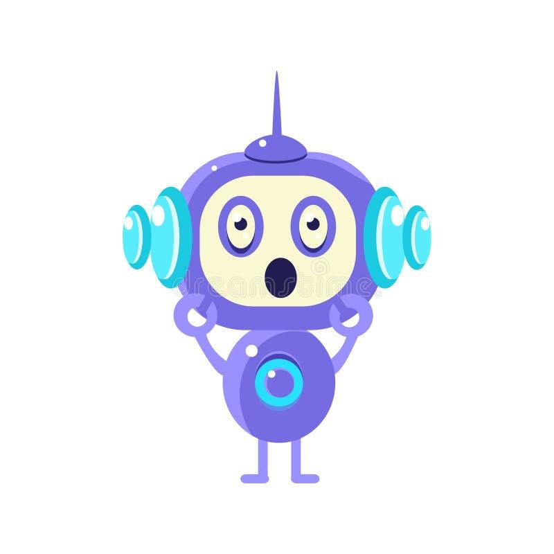 Chocado pouco robô ilustração stock